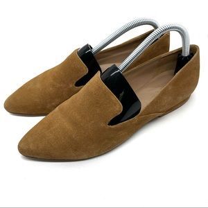ABLE Lizbeth Camel Suede Loafers Sz 9